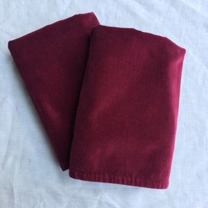 Set 2 Pottery Barn washed velvet pillow covers